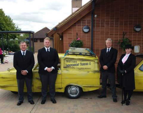del boy's car hearse